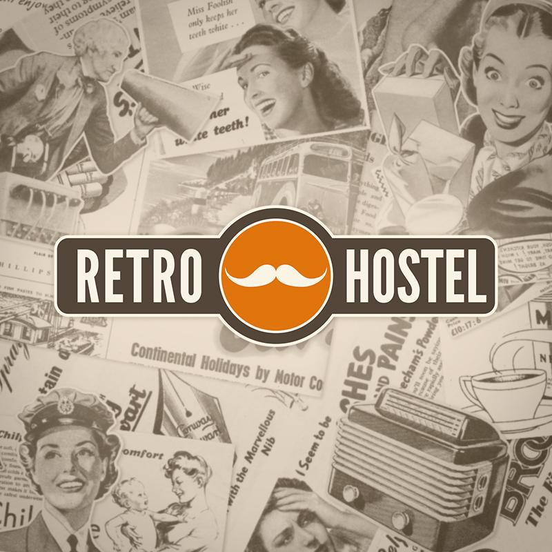 Projekt logo Retro Hostel Poznań