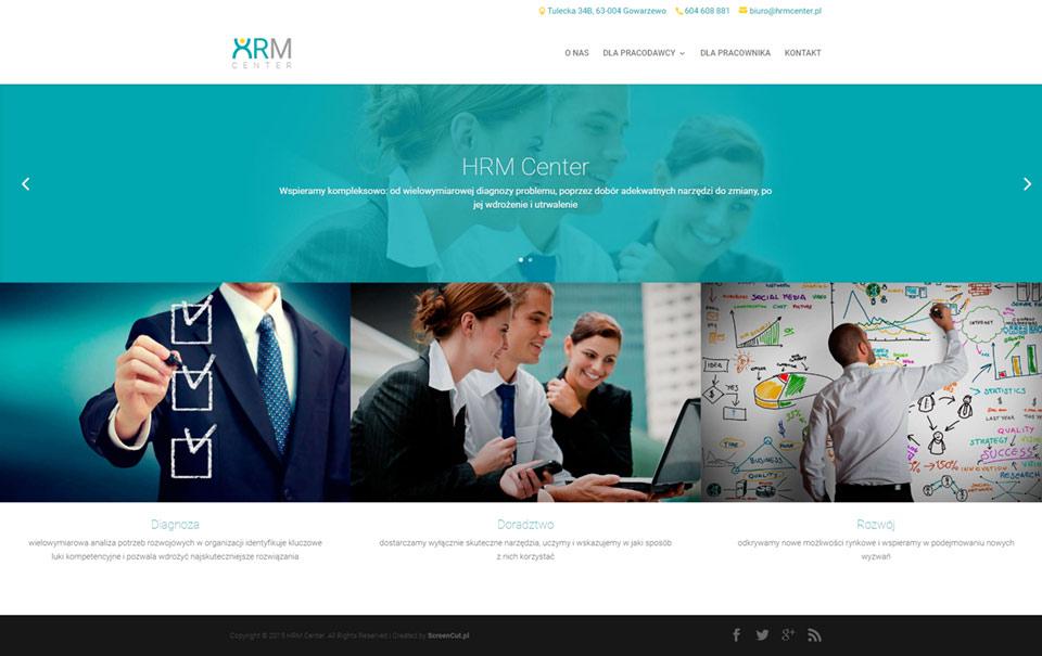 Strona internetowa dla HRM Center